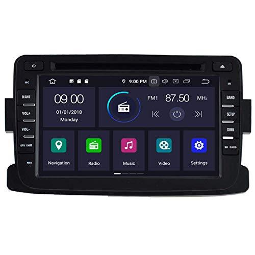 BWHTY Estéreo para Coche Android 10 - Core Sat Nav 4 + 64GB Navegación GPS en el Tablero Radio de Coche para Dacia Sandero/Renault Duster/Lada Xray 2 / Logan 2