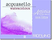 """Fabriano Artistico 140ポンドコールドプレス10パック11x14"""" - エクストラホワイト"""