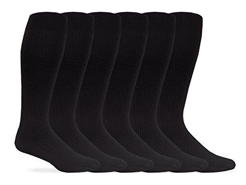 Jefferies Socks Herren Socken geripptes Kleid über die Wade Gr. Einheitsgröße, Schwarz