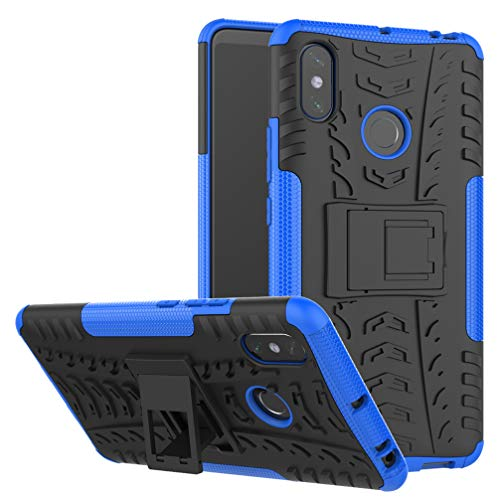 MRSTER Xiaomi Redmi Note 6 Pro Funda, 2in1 Armadura Combinación A Prueba de Choques Escudo Cáscara Dura PC + TPU con Soporte Plegable para Xiaomi Redmi Note 6 Pro