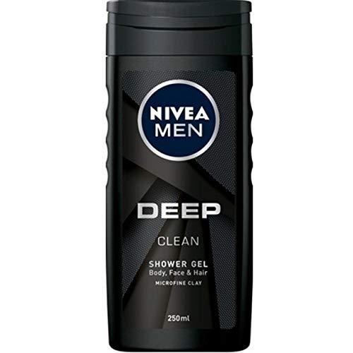 6er Pack - Nivea Duschgel Men - Deep Clean - sorgt für eine hydratisierte Haut - 250ml