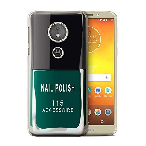 Stuff4® beschermhoes voor Motorola Moto E5 2018, met nagellak motief, groen