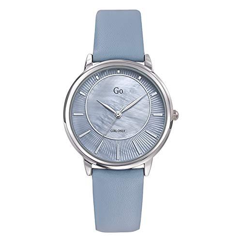 Girl Only - Reloj de pulsera analógico para mujer, color azul claro 699321 GO con correa de piel, UGO699321