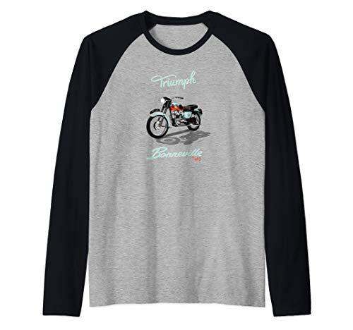 Vintage Triumph Bonneville T120 Motorcycle Raglan Baseball Tee