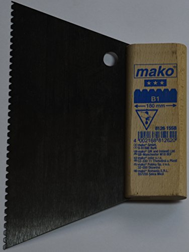 mako Kleberspachtel Trapezform; Größe B1; ca. 18 cm breit