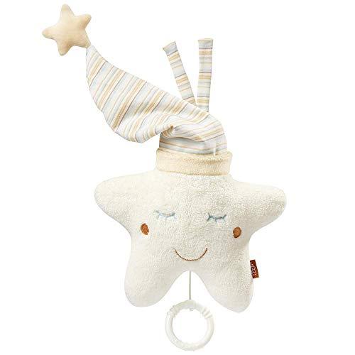 Fehn 154566 Spieluhr Stern-Aufzieh-Spieluhr mit herausnehmbarem Spielwerk zum Aufhängen an Bett, Kinderwagen oder Babyschale-Melodie