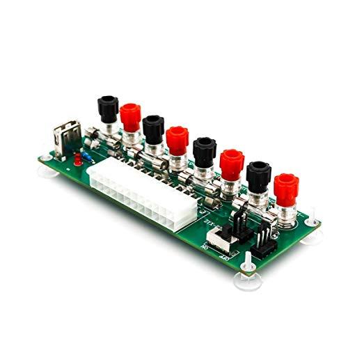Sylvialuca Stromkreis 24 Bank-ATX-Pins Computer-Netzteil ATX-Pin Breakout-Board-Modul Gleichstromstecker mit USB 5-V-Anschluss
