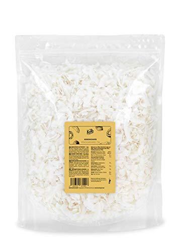 KoRo - Chips di cocco senza zuccheri aggiunti 1 kg - non tostate, al naturale, 100% cocco, croccanti, senza zolfo, snack vegano, ideale per muesli, dolci e torte