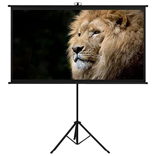 vidaXL Schermo di Proiezione Telo di Proiezione Telone per Film e Diapositive Accessori per Proiettori Display con Treppiedi 90' 16:9