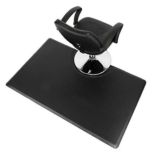 Mefeir 3' x 5' - 7/8'' Thick Salon Anti Fatigue Mat for Hair Stylist, Rectangle Comfort Barber Shop Beauty Floor Mats Under Styling Chair