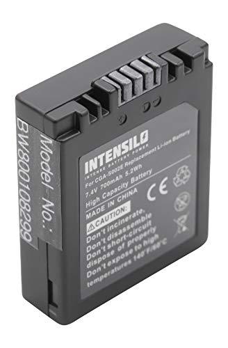 INTENSILO Li-Ion batterie 700mAh (7.4V) pour appareil photo vidéo Panasonic Lumix DMC-FZ3, DMC-FZ4, DMC-FZ5 comme DMW-BM7, CGA-S001HH, CGR-S002.