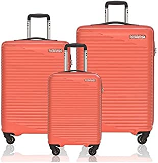 American Tourister Skypark Spinner Suitcases, Set of 3, Size 55 68 78, Orange