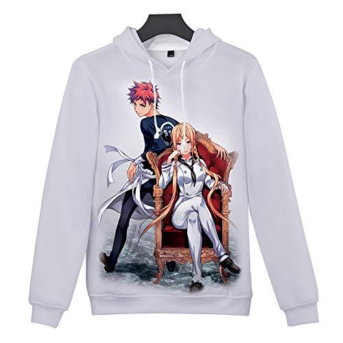 Food Wars! Unisex Hoodies HD 3D Print Pullover Casual Sweatshirts Long Sleeve Pockets Hood Fashion Gifts Hoodie Men's Woman Anime Hooded Jumpers Sportswear T-Shirts Zip Top M