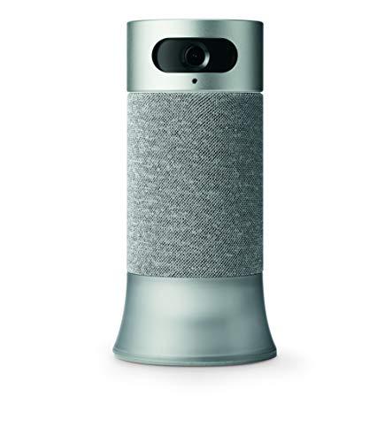 Honeywell RCHS5200WF1004/W Estación base de cámara inteligente de seguridad para el hogar con Alexa incorporada, gris