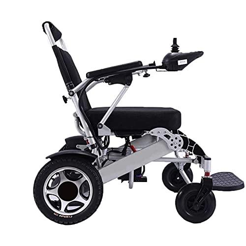 DLXYch Silla de Ruedas eléctrica de Lujo Silla de Ruedas eléctrica Plegable, Silla de Ruedas eléctrica portátil Plegable, Potente Motor Dual, Adecuada para Ancianos y discapacitados 🔥