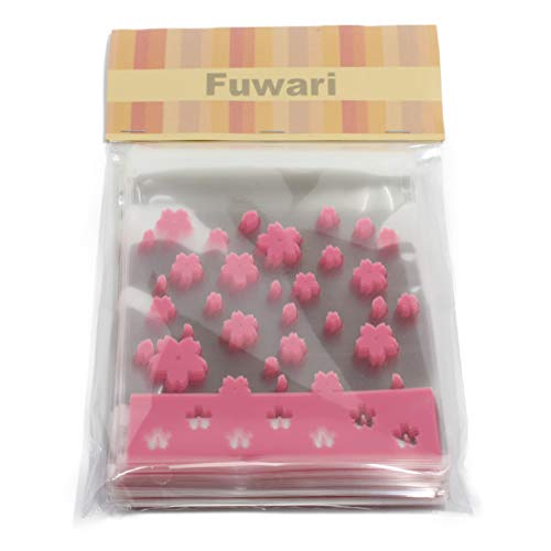 【Fuwari】袋 小袋 お菓子 チョコレート クッキー キャンディー アクセサリー 小物 ラッピング ハロウィン 100枚 包装袋 小分け プレゼント m4 (�B)