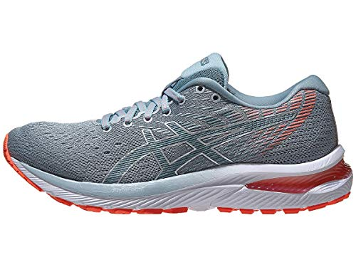 ASICS Women's Gel-Cumulus 22 Running Shoes, 7.5M, Piedmont Grey/Light Steel
