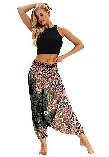 URVIP Women's Drop Bottom Baggy Gypsy Hippie Boho Yoga Harem Pants Bloomers One Size YCL-013