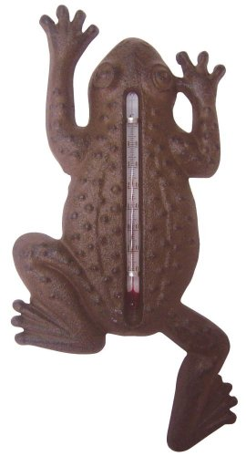 esschert Ruby Thursday - thermomètre en métal - Grenouille - 24 x 12cm