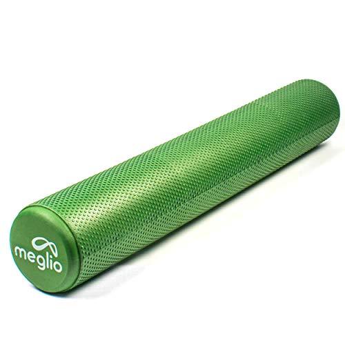 meglio Faszienrolle, leichte Fitness Faszienrolle für Tiefe Muskelgewebsmassage, effektive Triggerpunkte für Entspannung, Muskelverspannung & Schmerzlinderung und Anti-Stress-Therapie, 90cm & 45cm