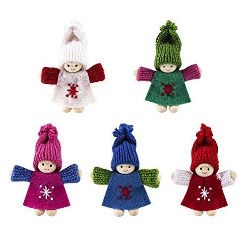 Niedliche Winter-Püppchen, Weihnachts-Deko, aus Filz und Strick, Winter-Kinder (Hanna, 5)