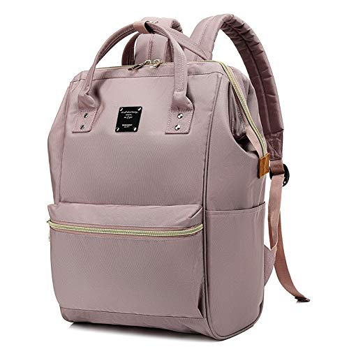 Bebamour Laptop Backpack for Women and Men Laptop Rucksack 15.6 inch Waterproof School Bag Backpack Casual Backpack for Travel/Business/College/Computer (Dusty Pink)