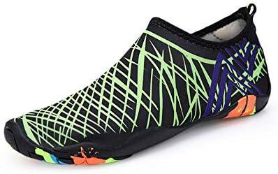 YINI Sneakers Men Women Barefoot Beach Water Shoes Lovers Outdoor Fishing Swimming Bicycle Quick-Drying Aqua Shoes Zapatos De Mujer (Color : Green, Shoe Size : 10)