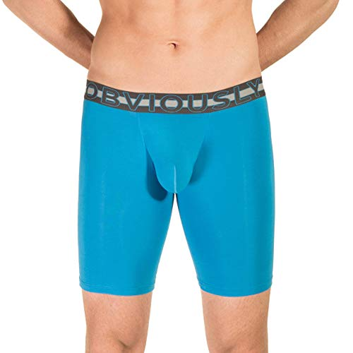 Obviously Bondi Blue EveryMan AnatoMAX Boxer Brief 9inch Bein - Klein