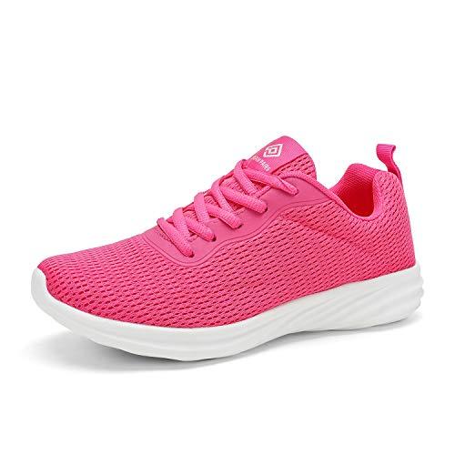 DREAM PAIRS Women's Fuchsia Lightweight Walking Sneakers Mesh Tennis Shoes Size 11 M US Rider