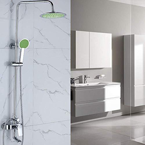 KANJJ-YU Cuarto de baño bajo la ducha elevar el agua de la ducha Conjunto oscuro en la pared juego de ducha de mano Cabeza Hermosa práctica Cromo