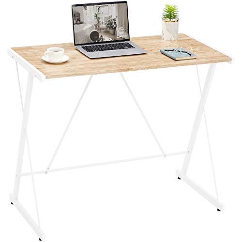 Aingoo Small Computer Desk Escritorio de Oficina Simple para Habitaciones pequeñas, oficinas, fácil de Montar Beige