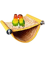 Bird Nest House Hanging Hammock Bed Toy for Pet Parrot Budgie Parakeet Cockatiel Conure Cockatoo African Grey Amazon Lovebird Finch Canary Hamster Rat Gerbils Chinchilla Guinea Pig Cage Perch (S)