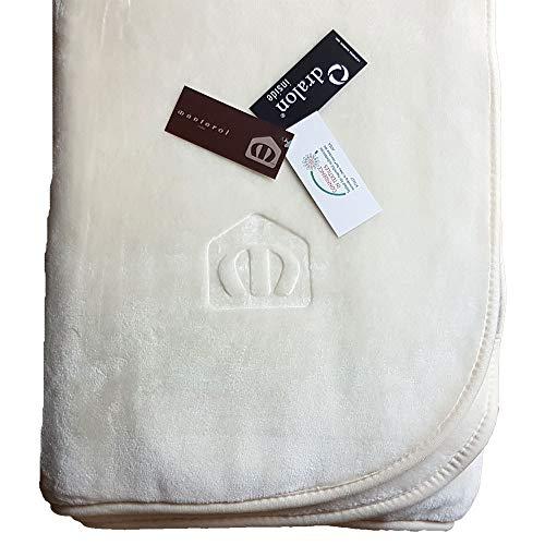 Manterol Decke Polo Color wollweiß, Größe:160x240cm