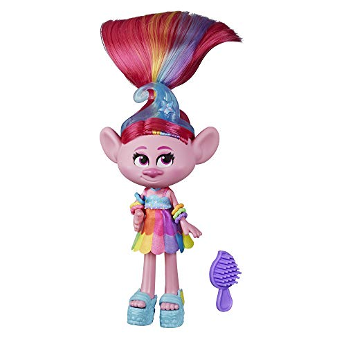 Trolls DreamWorks Glam Poppy Fashion Doll with Dress, Shoes, and More,