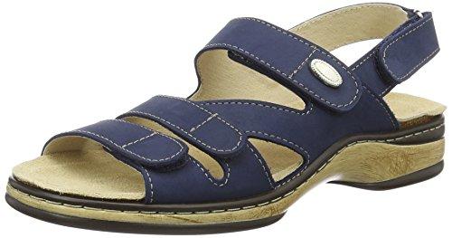 Orthopädische-Sandale mit auswechselbarem Fußbett blau Gr. 37