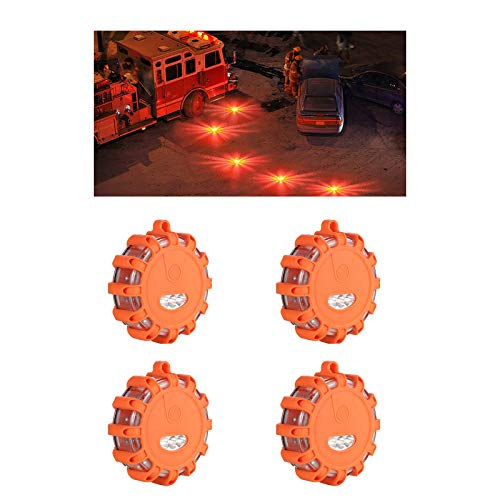 CNQXG Led Road Flares Flashing Warning Light Magnetic for Car Truck Motorcycle Boats
