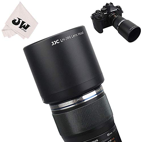 JJC Reversible Lens Hood Shade Tube for Olympus M.ZUIKO Digital ED 60mm f2.8 Macro Lens Replaces Olympus LH-49 Lens Hood