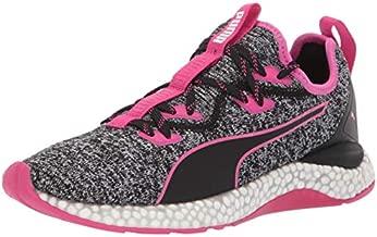PUMA Women's Hybrid Runner Sneaker, Black-Fuchsia Purple, 8 M US