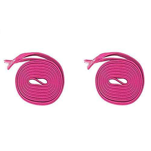 DB Elastic No Tie Shoe Laces, Replacement Shoelaces, Flat Elastic Shoe Laces for Running, Athletic, Mens, Womens, Kids Fuchsia