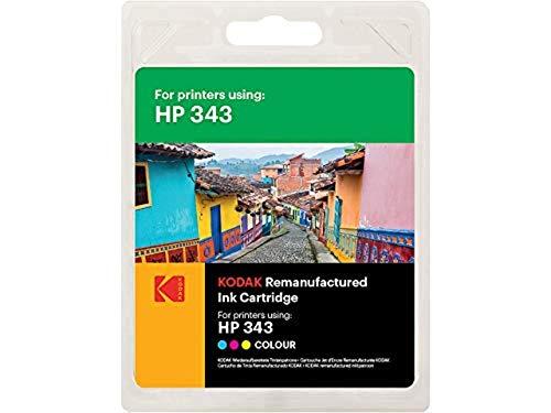 Kodak Supplies 185H034313 Adecuado para HP DJ460 Tinta Color Compatible también HP343/C8766EE 410 Lados 21ml