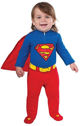 Rubie's baby boys Dc Comics Superhero Style Superman Costume Party Supplies, Multi, 6-12 Months US