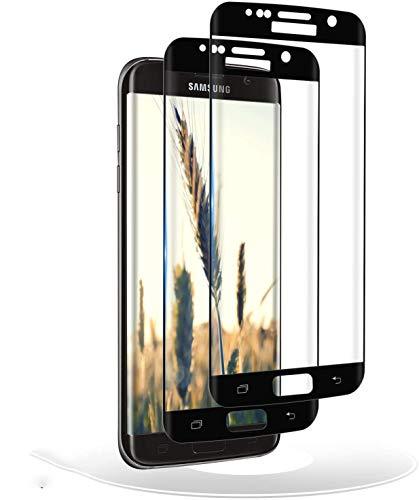 RIIMUHIR Verre Trempé pour Samsung Galaxy S7 Edge,2 Pièces,Premium 9H, Respectueux de la Casse,Compatible avec Le capteur d'empreinte Digitale,Protection écran pour Samsung Galaxy S7 Edge