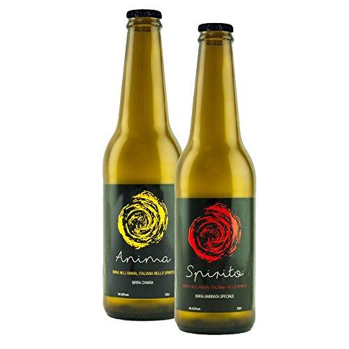 Box 24 bottiglie 33cl mixed birra artigianale speciale ambrata'Spirito' tipo Bock e birra artigianale chiara'Anima' tipo Lager