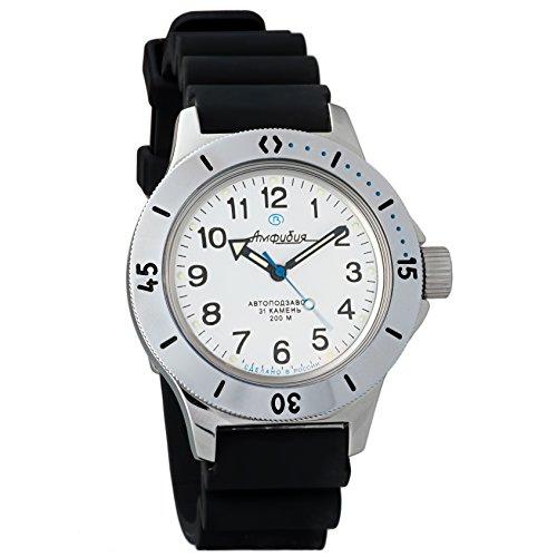 Vostok Amphibian 120813 orologio da polso originale russo militare subacqueo 2416B/2415 200 m auto carica orologio da polso