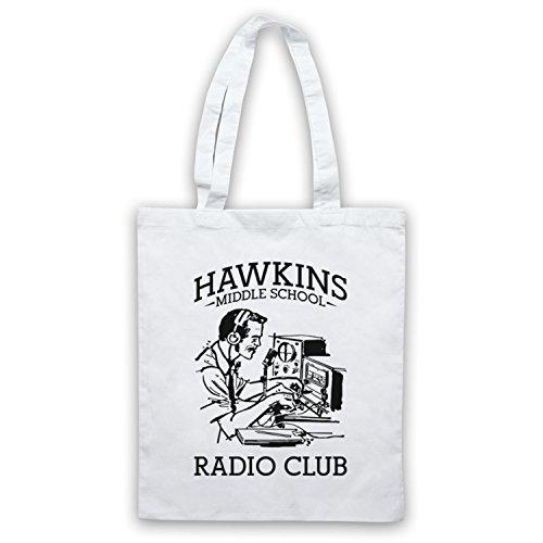 The Guns Of Brixton Stranger Things Hawkins Middle School Radio Club Umhangetaschen, Weis