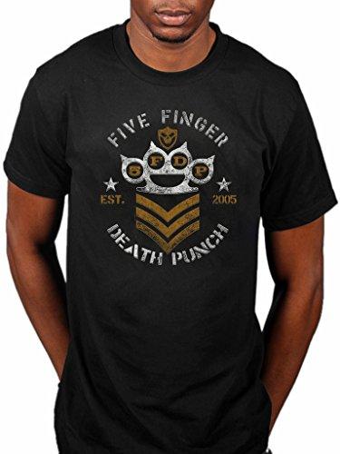 Official Five Finger Death Punch Chevron T-Shirt Rock Band War Is The Answer F*ck Pop