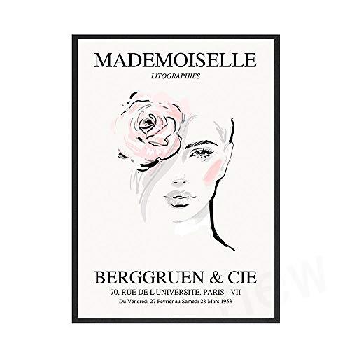Cartel de moda para mujer, exposición abstracta para mujer, pintura artística, cuadro de pared, pintura en lienzo sin marco para el hogar, D 30x40cm