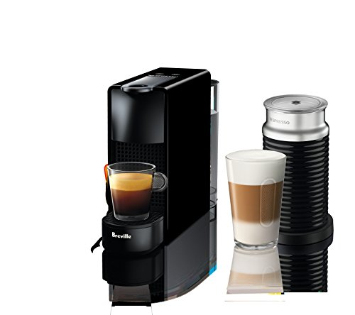 Breville-Nespresso USA BEC250BLK1AUC1 Nespresso Essenza Mini Expresso Machine, Aeroccino Bundle One...