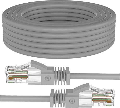 MutecPower 20m Ethernet Cat5E Cavo di Rete UTP con Spina RJ45 per PC, LAN, Grigio 20 Meter