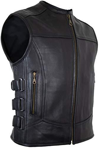 MDM Custom Lederweste aus echtem Leder (S)